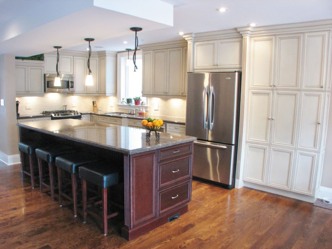 Leaside toronto kitchen remodel custom kitchen design for Kitchen cabinets toronto